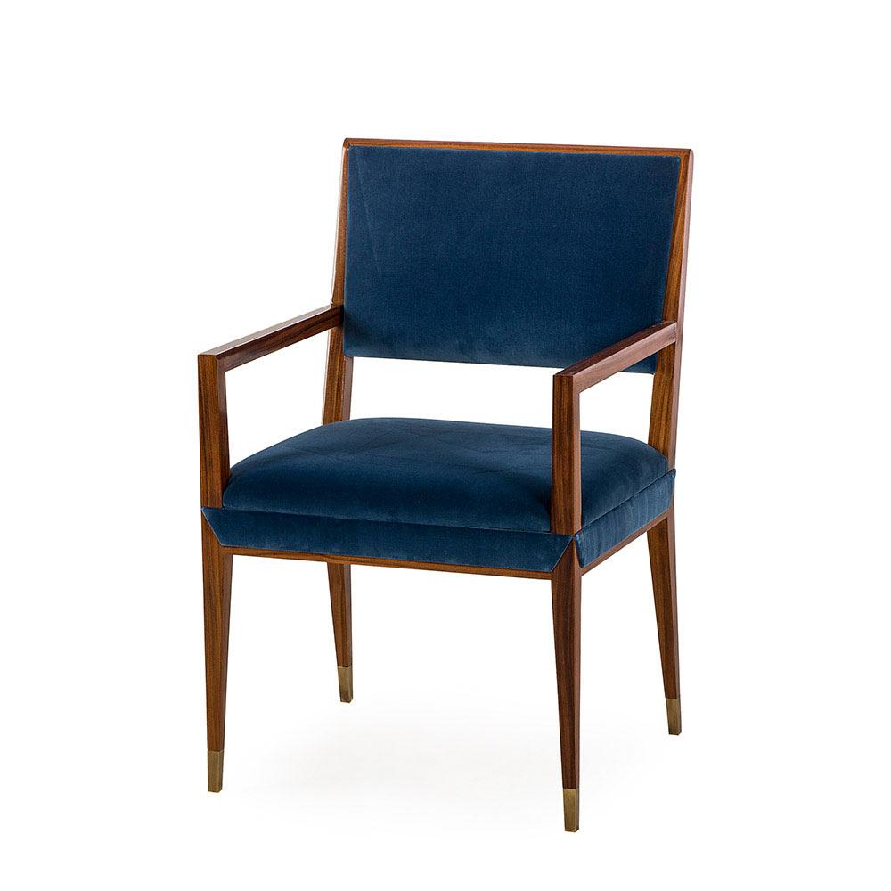 Reform Arm Chair U2013 Blue Velvet