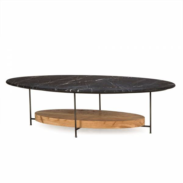 Olivia Coffee Table - Black Marble Top