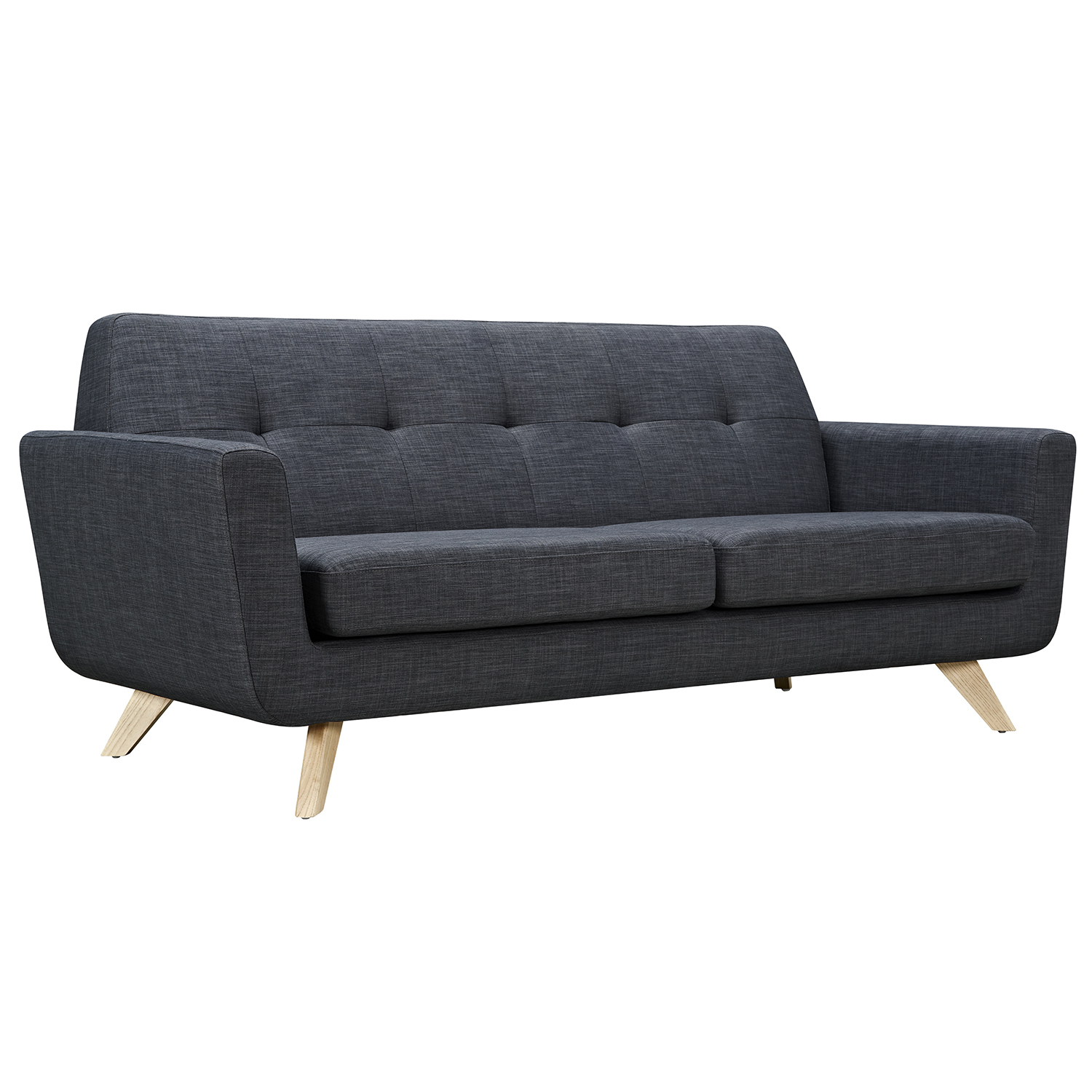 Dania Sofa Charcoal Gray Natural