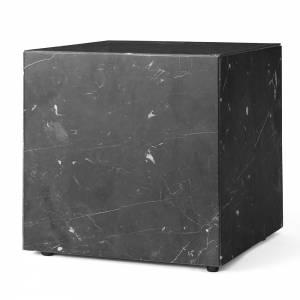 Plinth Cubic Marble Table - Black