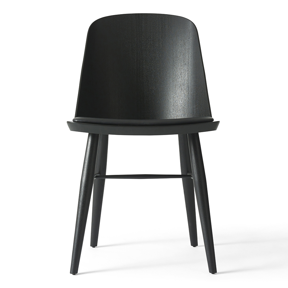 synnes upholstered dining chair black black leather rouse home. Black Bedroom Furniture Sets. Home Design Ideas