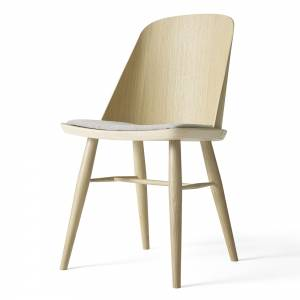 Synnes Upholstered Dining Chair - Natural Oak/Grey Fabric
