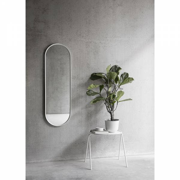 Norm Oval Mirror - White