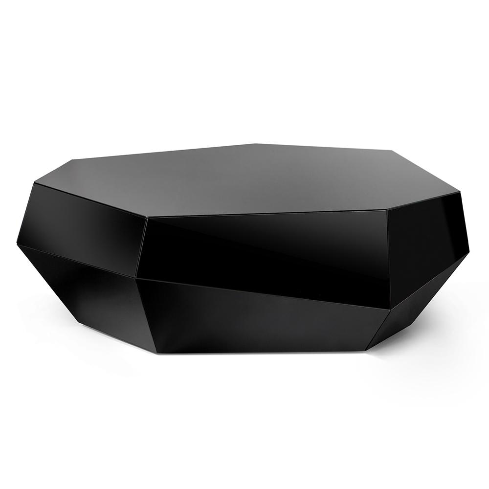Three Rocks Low Table Black Gl