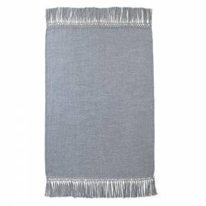 Cool Alpaca Throw - Blue Gray