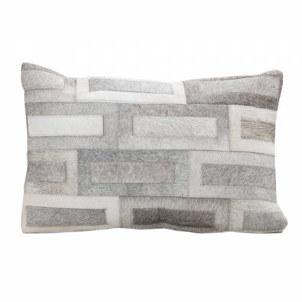 Flagstone Cowhide Pillow - Rectangle