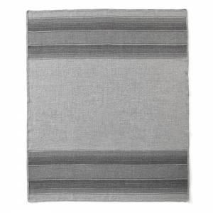Lines Alpaca Throw - Gray