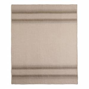 Lines Alpaca Throw - Taupe