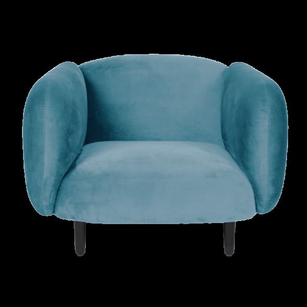 Mora Velvet Armchair - Light Blue