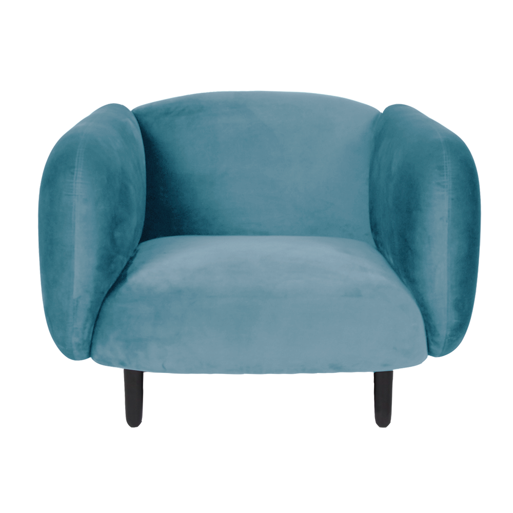 Delicieux Mora Velvet Armchair   Light Blue