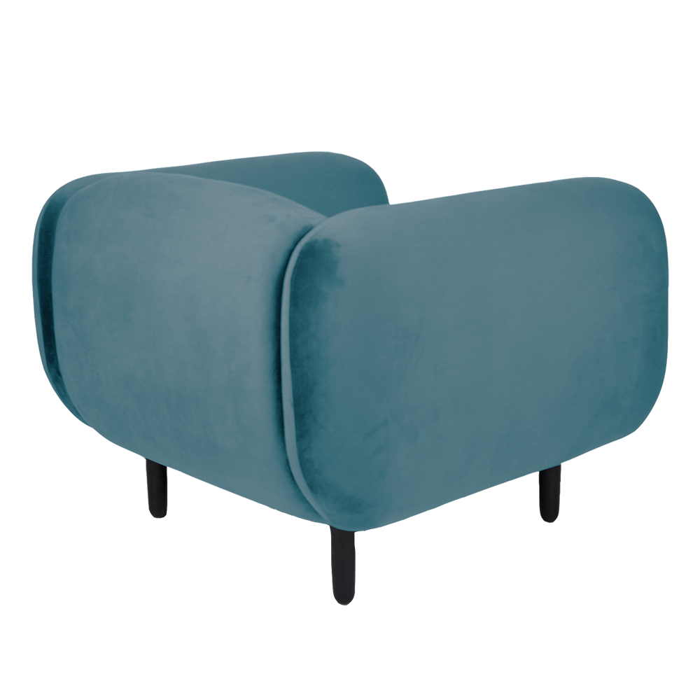 Mora Velvet Armchair – Light Blue – Rouse Home