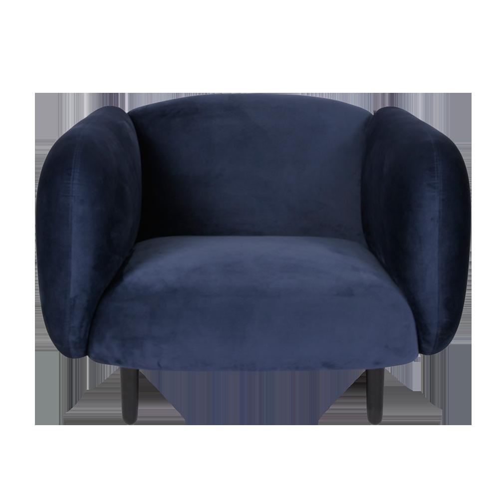 Bon Mora Velvet Armchair   Night Blue