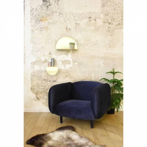 Mora Velvet Armchair - Night Blue