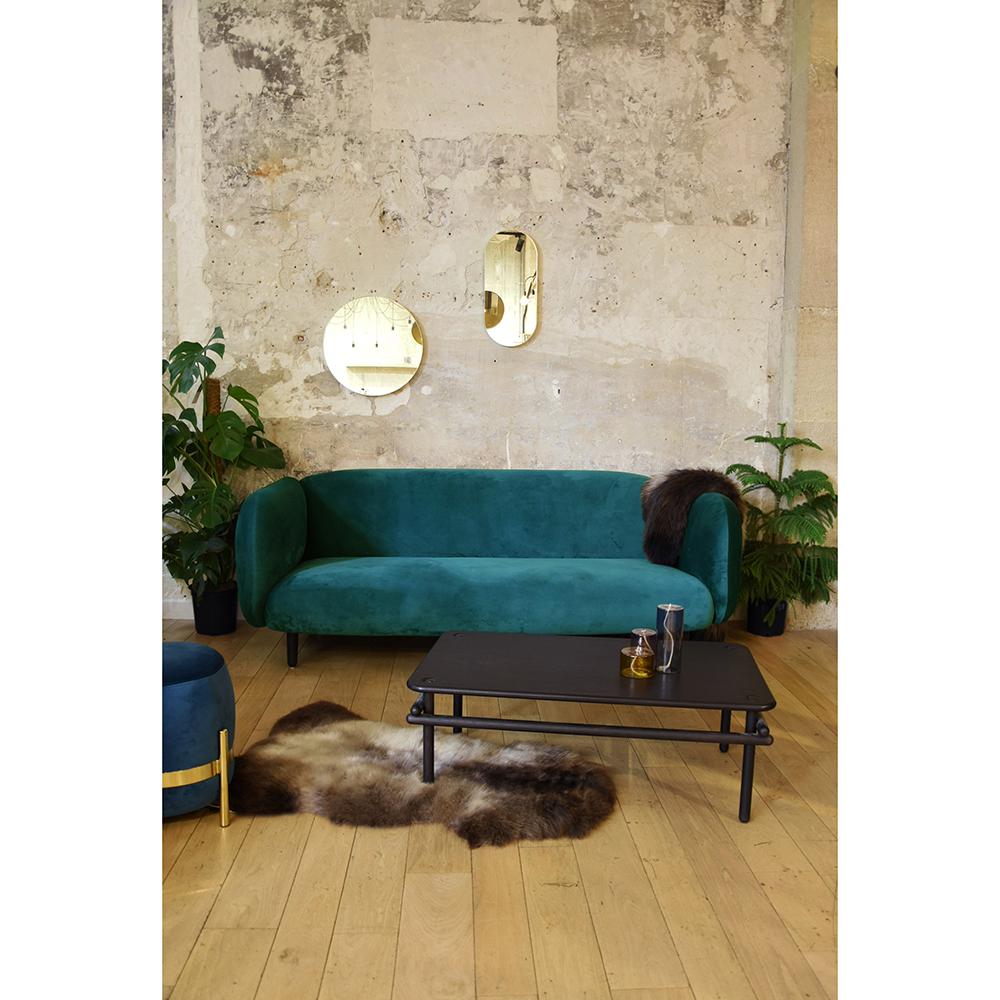 Mora Velvet Sofa Emerald Rouse Home