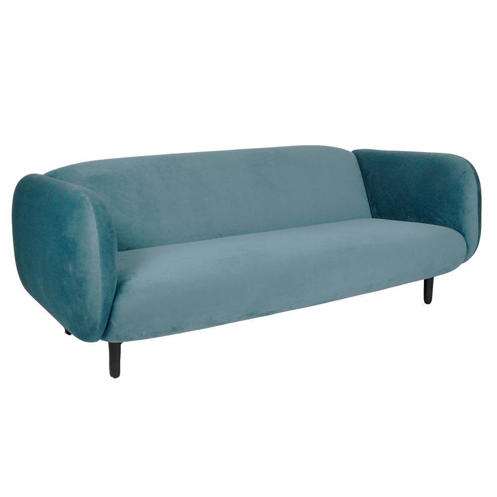 Mora Velvet Sofa - Light Blue