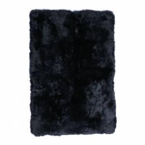 Shearling Longwool Rug - Black