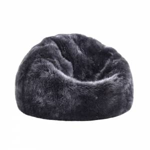 Sheepskin Beanbag - Steel