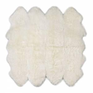 Sheepskin Octo Pelted Rug - Ivory