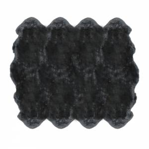 Sheepskin Octo Pelted Rug - Steel