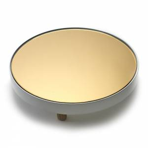 Studio Simple Round Mirror Tray - White
