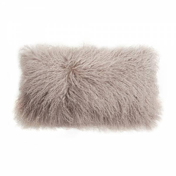 Tibetan Lamb Rectangle Pillow - Birch