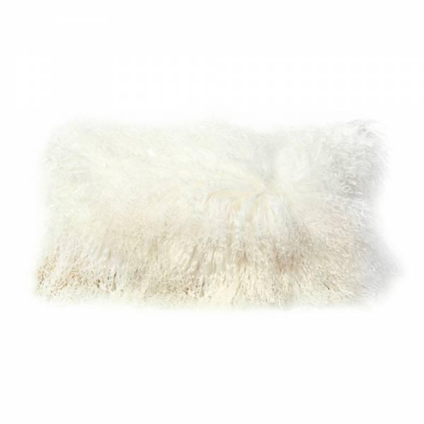 Tibetan Lamb Rectangle Pillow - Ivory