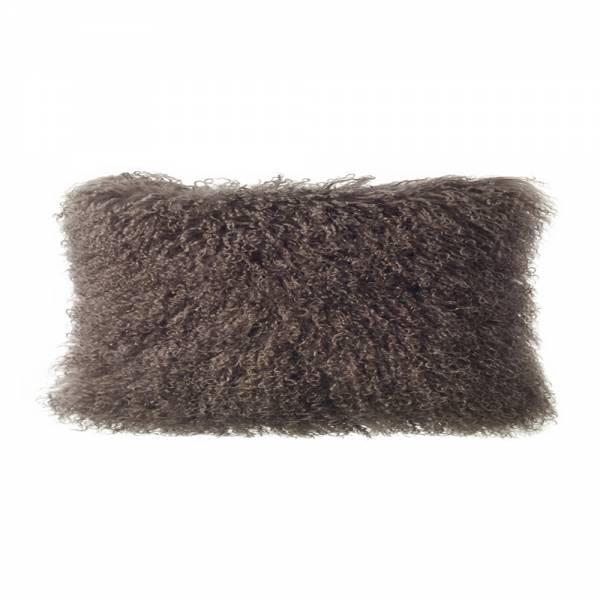 Tibetan Lamb Rectangle Pillow - Portobello