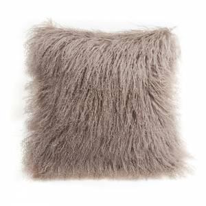 Tibetan Lamb Square Pillow - Birch