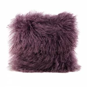 Tibetan Lamb Square Pillow - Bloom