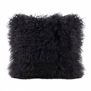 Tibetan Lamb Square Pillow - Charcoal