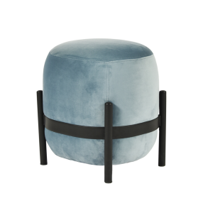 Vega Pouf - Light Blue/Black
