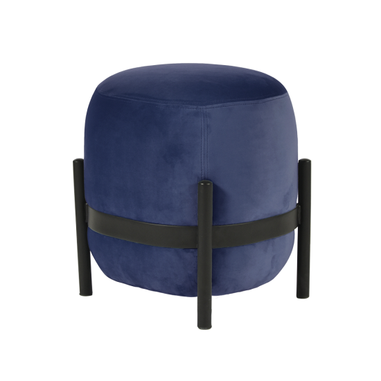 Vega Pouf - Night Blue/Black