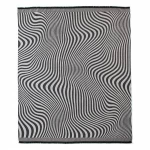 Waves Alpaca Throw - Black