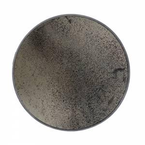 Bronze Round Mirror Heavy Aged