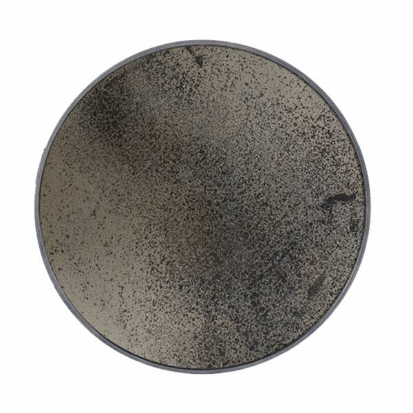 Bronze Round Mirror Heavy Aged