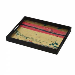 Abstract Study Glass Tray