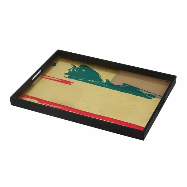Abstract Vista Glass Tray