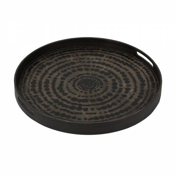 Black Beads Driftwood Tray