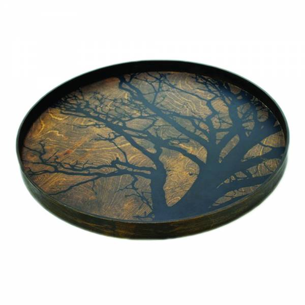 Black Tree Driftwood Tray