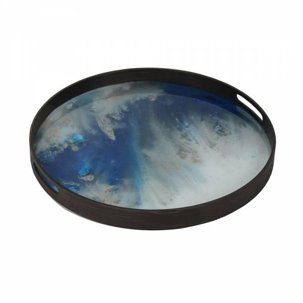 Blue Mist Organic Glass Tray