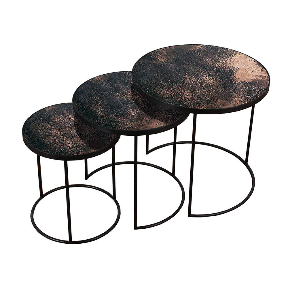 - Bronze Nesting Side Table Set Of 3 – Rouse Home