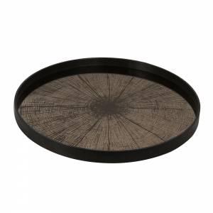 Bronze Slice Mirror Tray