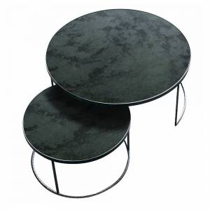 Charcoal Nesting Coffee Table Set-Heavy