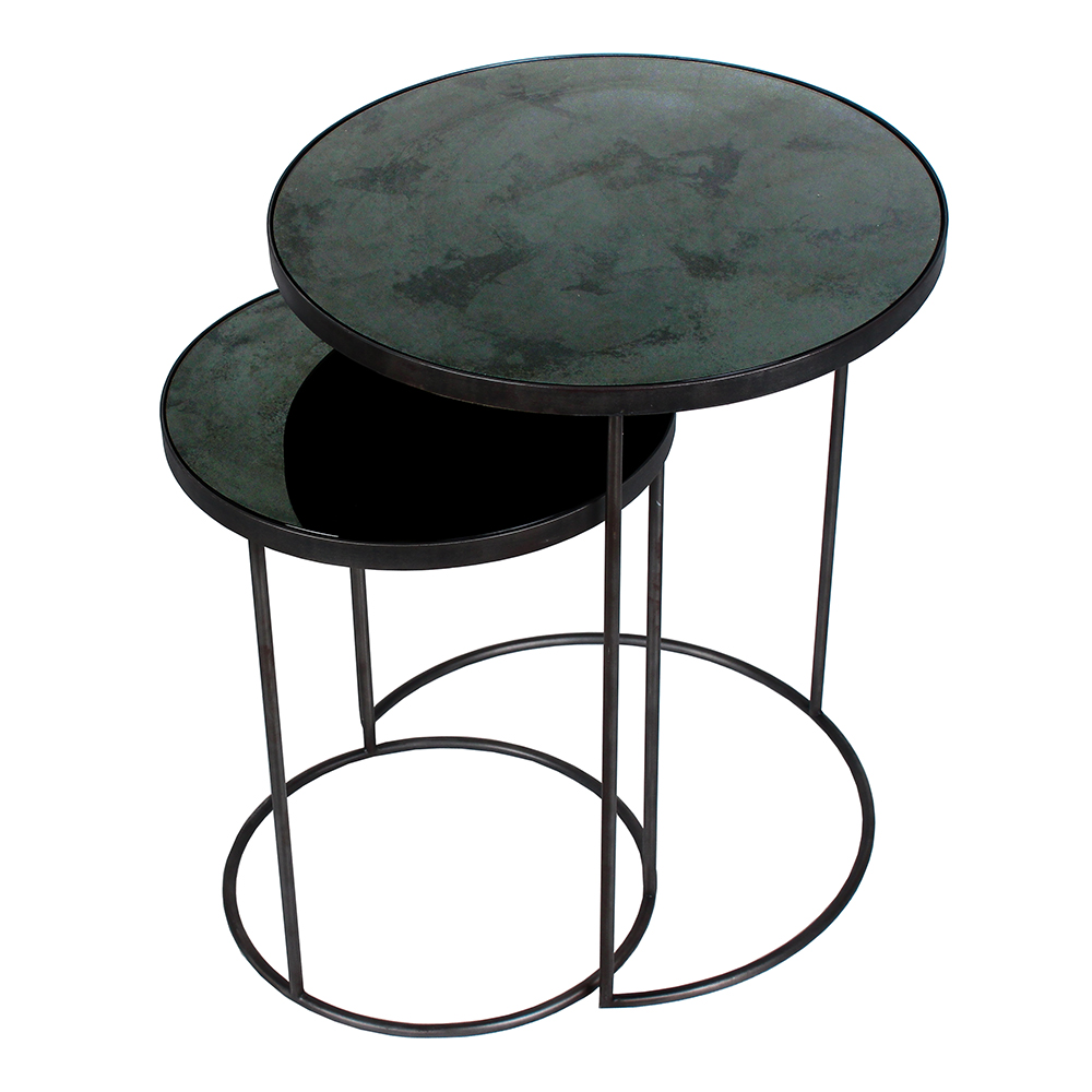 Charcoal Nesting Side Table Set Round – Rouse Home