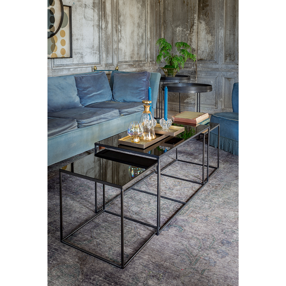 Charcoal Rectangle Nesting Table Set Of 3