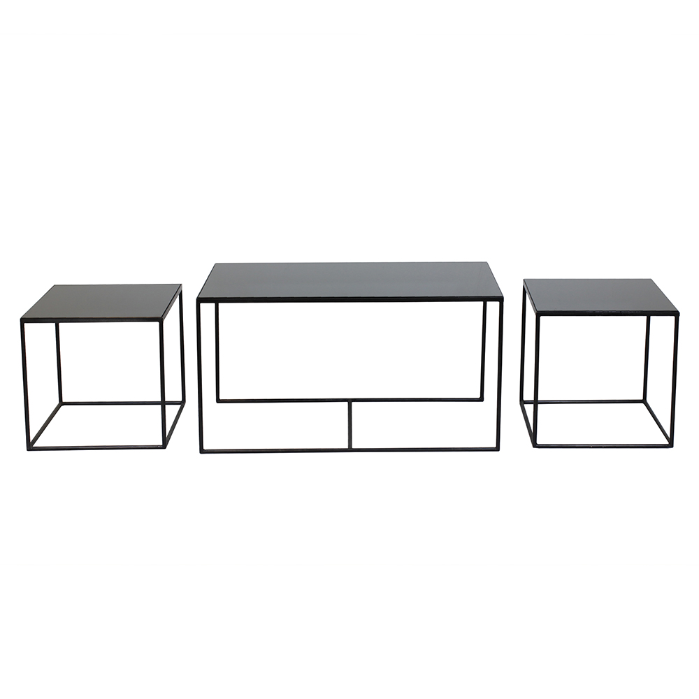 Superb Charcoal Rectangle Nesting Table Set Of 3 Squirreltailoven Fun Painted Chair Ideas Images Squirreltailovenorg