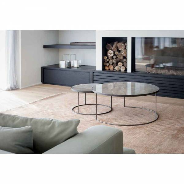 Clear Nesting Coffee Table Set