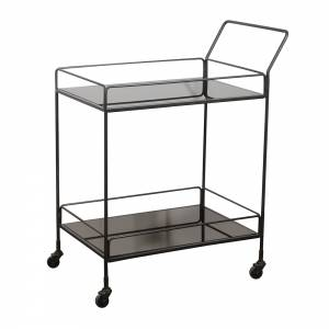 Dixon Bar Cart - 2 Charcoal Mirror Shelves