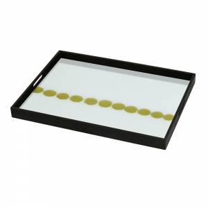 Dotted Line Glass Tray