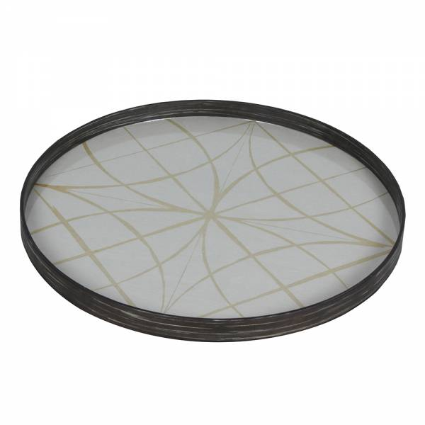 Geometry Glass Tray